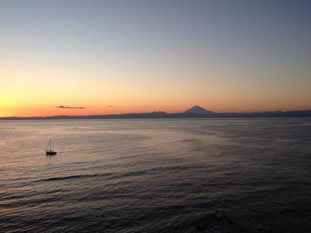 Sunset and Mount Fuji