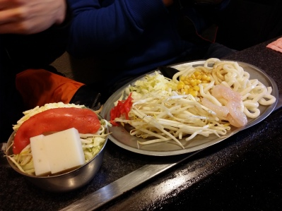 We settled for Monjayaki and Okonomiyaki for lunch in a small shop called Mu no Shison