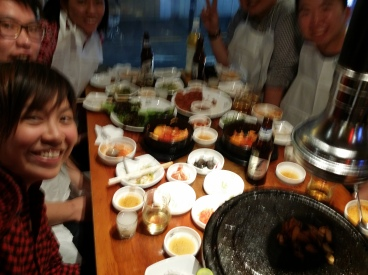 We ended the day with a meal at the Korean restaurant, served by Korean staff. Definitely feels like we are in Korea!