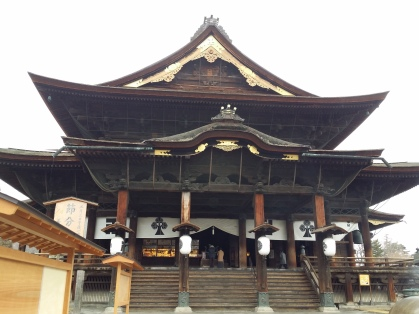 Zenkoji Temple, looking very grand from outside.