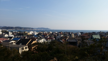 View of the ocean from Hasedera temple, near Hase Station, Enoden Line.