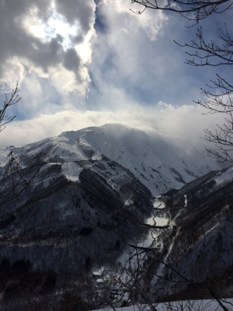 A breathtaking view awaits you at the end of the snowshoeing hike
