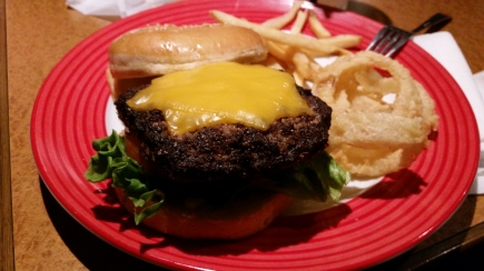 """Navy burger"" at TGI FRIDAYS...American-sized big burger!!!"